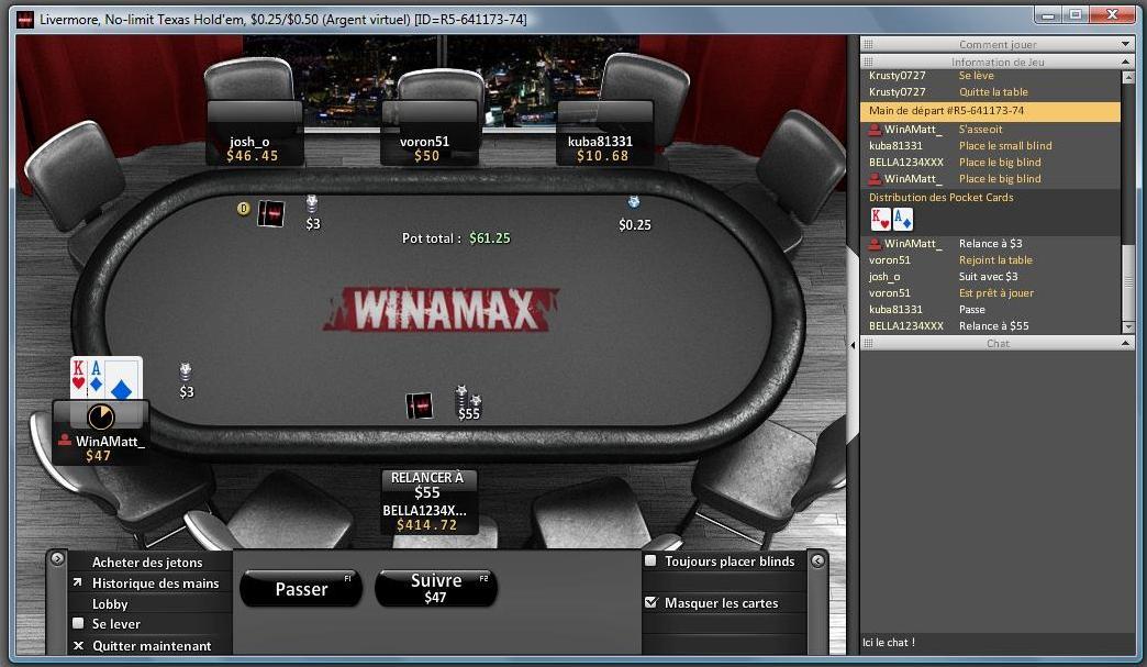 Salle de poker Winamax