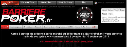 barriere poker