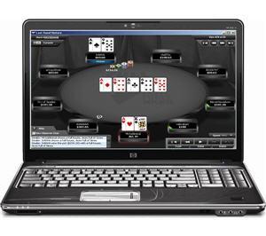 poker sur ordi portable